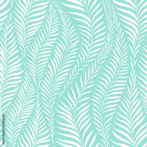 Cotton fabric Palm leaf pattern