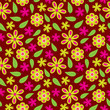 Flower seamless pattern with green and pink flowers vector for wallpaper, fabric, and backdrop - 164803830