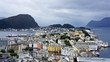 View of Alesund, Norway. - 164810087