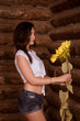 girl in a barn