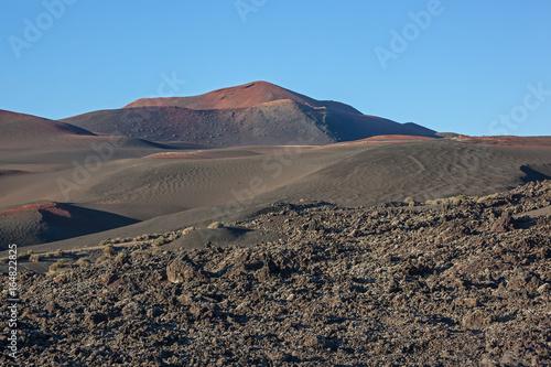 Foto op Canvas Canarische Eilanden Amazing volcanic landscape in the Timanfaya national park on Lanzarote island, Canary Islands, Spain