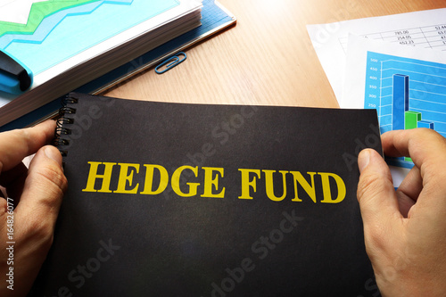 Book with name hedge fund and trading data.