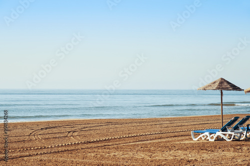 lonely beach in the mediterranean sea