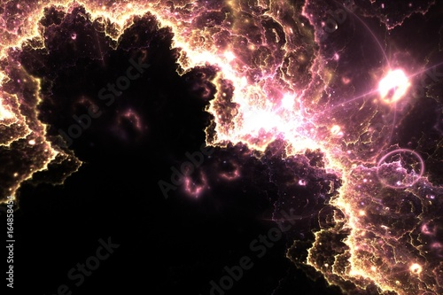 Pink lightning of universe. Abstract background