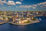Sztokholm. Zdj? Cie lotnicze starego miasta Sztokholm, Szwecja podczas podczas słoneczny dzień.