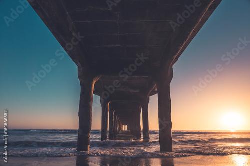 Poster Manhattan Beach Pier Sunset