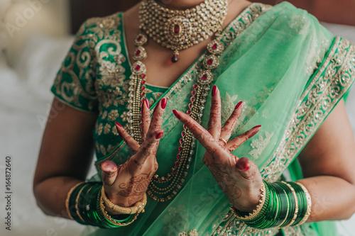 Poster Indian Hindu Wedding Henna Detail