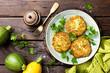 Vegetable zucchini pancakes - 164875281