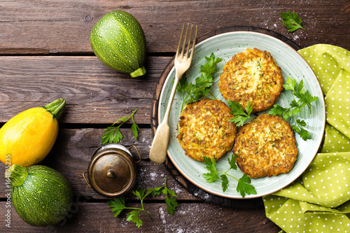 Vegetable zucchini pancakes