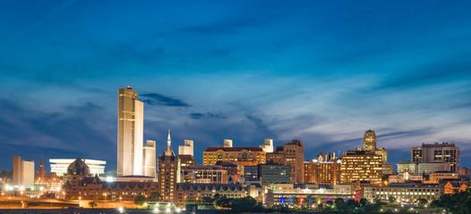 Albany Night Skyline