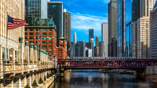 Chicago viewed from the Franklin Street bridge