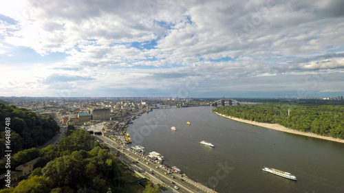 summer in Kiev, aerial view,