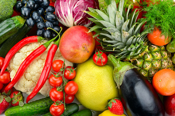 assortment fresh fruits and vegetables