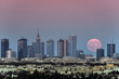 Rising moon over Warsaw city, Poland - 164890002