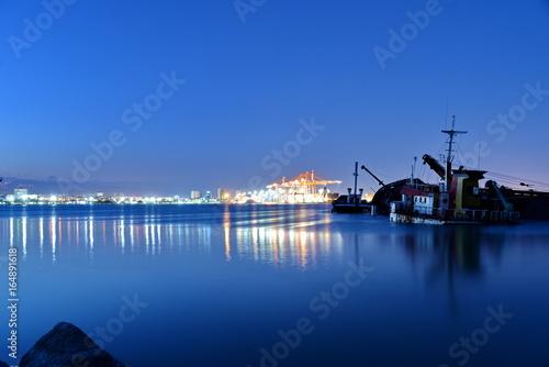 Sunken ship and Mersin port