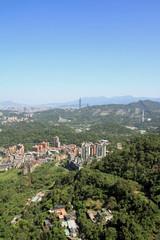 猫空から見た台北101と台北市街