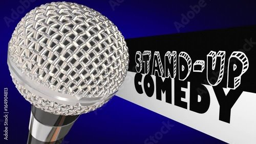 Stand-Up Comedy Microphone Comedian Open Mic Performance 3d Animation