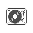 Turntable Flat Simple Icon (White Version)