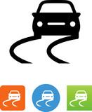 Car Swerving Icon - Illustration