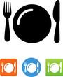 Dinner Plate Icon - Illustration