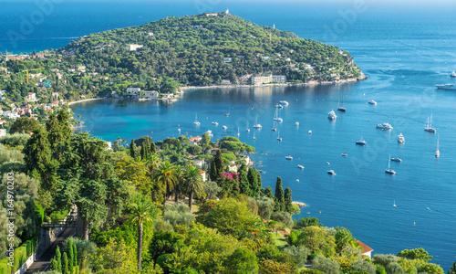 Turquoise Mediterranean sea blue sky Summer landscape
