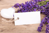 Lavendel - Grußkarte