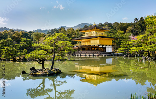 The Golden Palace Kinkakuji in Kyoto, Japan.