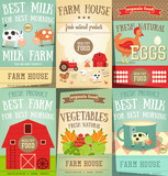 Farm Food and Agriculture Posters Set - 165004888