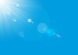 Soleil - Ciel bleu - Sunshine - 165010461