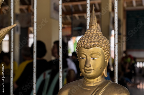 Buddha statue used as amulets of Buddhism religion , At Wat Ku Tao songkhla thailand