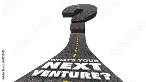 Whats Your Next Venture Road Question Mark 3d Animation