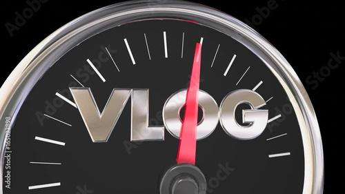 Vlog Video Blogging Traffic Audience Rising 3d Animation