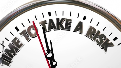 Time to Take a Risk Chance Opportunity Clock 3d Animation