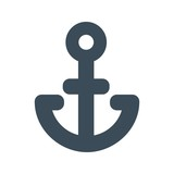 Anchor icon isolated on white background. vector illustration icon