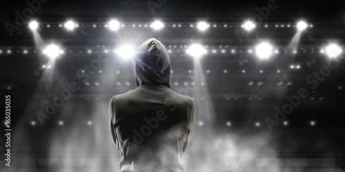 Silhouette of man in hoody Plakát