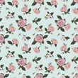 rose flower seamless vector pattern - 165039819
