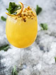 Glass of healthy lemonade