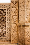Detail of a piller and wall at  Gwalior Fort, Gwalior, Madhya Pradesh