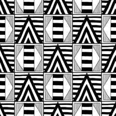 Abstract seamless pattern. Black and white illustration for coloring books. Background for design