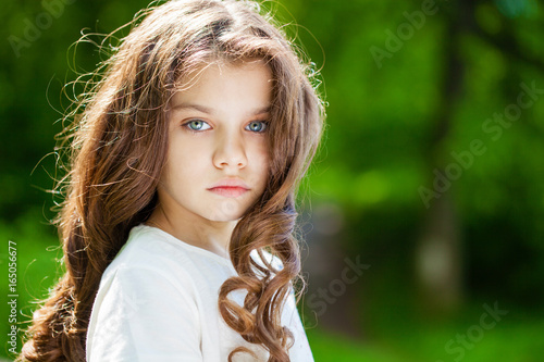 Portrait of a beautiful young little girl Poster