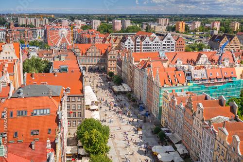 Keuken foto achterwand Antwerpen The Long Lane of the old town in Gdansk, Poland