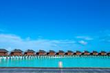 tropical Maldives island with beach