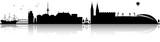 Bremen Skyline Silhouette schwarz - 165080444