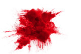 Abstract design of red powder cloud - 165080846