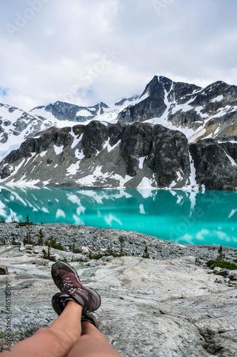 Tuinposter Grijs Wedgemount lake, Whistler, British Columbia, Canada - July 2017