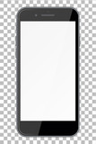 Smart phone with blank screen isolated on transparent background. - 165131692