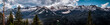 Snow-covered mountain peaks of the Rocky Mountains. Mountain panorama