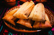 tamales mexican food and mexico city
