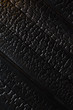 Black burnt wooden texture - 165141657