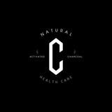 c letter hexagonal shaped charcoal logo